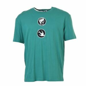 ALEXANDER MCQUEEN T-Shirt Green Cotton Size Small VH 439