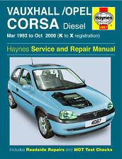 4087 Haynes Vauxhall/Opel Corsa Diesel (Mar 1993-OTTOBRE 2000) Manuale Officina
