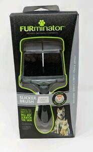 FURminator Large Firm Grooming Slicker Brush, Coat Curly, Long, Medium - SEALED!
