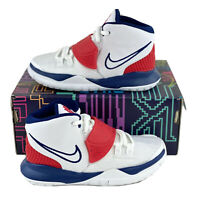 Nike Kyrie 6 USA Little Kids Shoes PS Sizes Basketball White Blue Red BQ5600 102