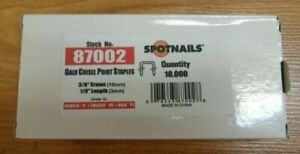 """Staples 10,000 NEW Galvanized 22 Gauge 3/8"""" crown x 1/8"""" long Upholstery"""