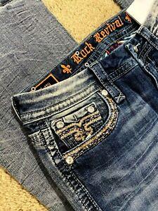Rock Revival Betty Boot E8441B19R Denim women jeans size 29 X 32 - NEW