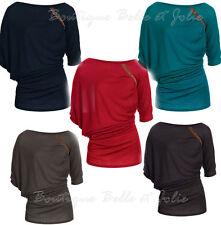 Markenlose Klassische Damenblusen,-Tops & -Shirts mit Rundhals ohne Muster