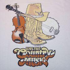 Vintage Love That Country MusicT-shirt Boots Cowboy Hat Banjo Fiddle