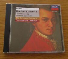 MOZART CLARINET CONCERTO CLEVELAND ORCHESTRA VON DOHNANYI 1995 UK CD ALBUM DECCA