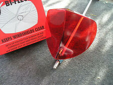 NEW VINTAGE STYLE RED WINDSHIELD BUG DEFLECTOR !