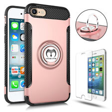 For iPhone 6 6S 7 Plus 360° Protective Ring Case Magnetic Cover+Screen Protector