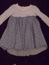 Blue Zoo Denim Look Blue & White Stripe Top Dress - 18 - 24 Months