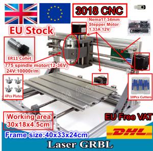 〖EU/DE〗 CNC 3018 GRBL DIY Mini 3Axis Milling Engraver Laser Machine Wood Router