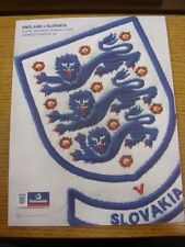 28/03/2009 England v Slovakia [At Wembley] . Thanks for viewing this item, buy w