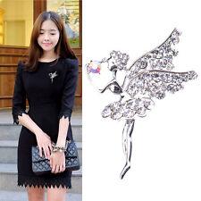 Fashion White Rhinestone Crystal Angel Brooch Pins For Lover Girls Ladies Gift