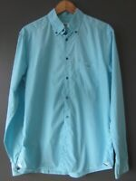 """LACOSTE SHIRT F6253 (41-L) GARMENT DYED TURQUOISE COTE D'AZUR """"WORN ONCE"""" IMMACU"""