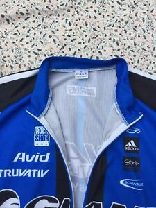 GIANT - Blue-Black-White-Red - Full Zip - Cycling Jersey - XL