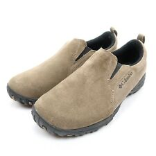 Columbia Mens Terrebonne Size 7.5 M Beige / Taupe Suede Moccasin Hiking Shoes