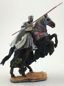 Painted CRUSADERS Mounted Knight Templar Metal Tin Figure 1/32