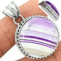 Multi Fluorite 925 Sterling Silver Pendant Jewelry