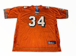 Rare NFL Authentic Reebok Miami Dolphins Ricky Williams Jersey 3XL NWT Orange