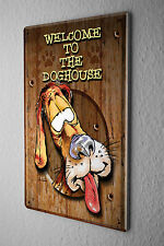Decorative Tin Sign Funny Signs  Welcome to the Dog House Fun Metal Sign 8X12""
