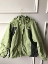 Women's The North Face Hyvent Parka Jacket-Green and Gray-Size Large
