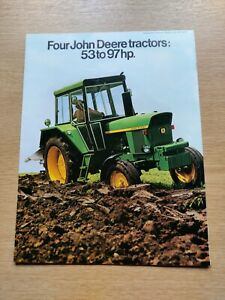 JOHN DEERE TRACTORS 53 TO 97 HP COLOUR FARMING TRACTOR BROCHURE PRE USED IN VGC