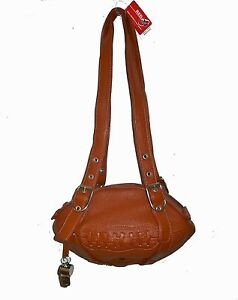 NEW Red24 Rust Brown Leather FOOTBALL PURSE Shoulder Bag NFL Cleveland Browns