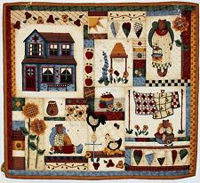 Country Bears At Heart Handmade Wallhanging Quilt REDUCED