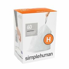 Simplehuman Code H Bin liners, CW0258 (Box of 60) FREE NEXT DAY DELIVERY