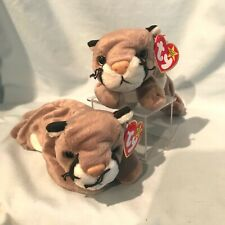 Canyon the Cougar #4212 Ty Beanie Babies Lot of 2 1998 Pe Retired $10.99