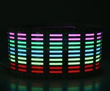 Car Sound Activated Equalizer Flashing Multi Color Led Light Sticker 70*16 Cms