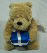 "GUND Winnie the Pooh CLASSIC POOH BEAR W/ BLUE GIFT 5"" STUFFED ANIMAL Toy NEW"