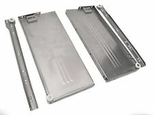 Metabox Metal Drawers Sides/Runners Slides Rollers Set Silver H-54mm L- 500mm