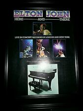 Elton John Here And There Live Rare Original Promo Poster Ad Framed!