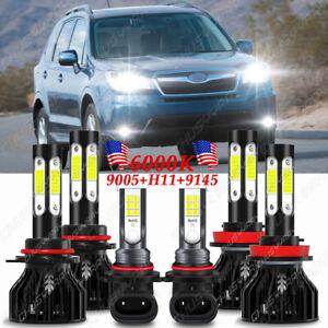 Para For Subaru Forester 2009-2013-H11 9005 9145 Faros LED Luz antiniebla