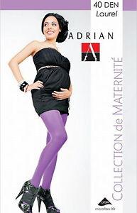 Maternity Tights 40 Den Microfibre Pregnancy size M L Adrian Laurel