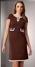 """Lilly Pulitzer """"Cleary"""" V-Neck Brown Lined Cap Sleeve Dress - EXCELLENT–Size 8"""