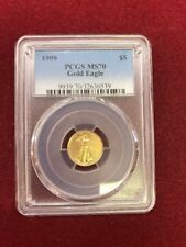 1999 $5 Gold Eagle PCGS MS70