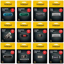 USB Stick Intenso Line 2.0 3.0 USB-Stick 4 - 256 GB Flash Drive Speicherstick