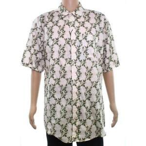 EZEKIEL Men's S/S Button-Up Shirt BALI - PINK - Small - NWT