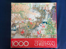 VTG Springbok Night Before Christmas ALL 1000 PC Puzzle Clement Clarke Moore