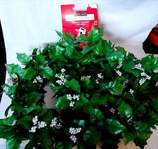 Ashland Garland Silver Berries Fall Decor Stems Fake Flowers All Holidays 6' 2P