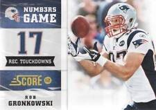 2012 Score Numbers Game #4 Rob Gronkowski Patriots