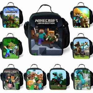 Insulated Bag Girl Snack Kid Minecraft Bag UK Picnic Box School Boy Lunch Cool