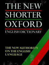 The New Shorter Oxford English Dictionary by OUP