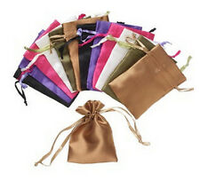 """Gift Bag Satin Mixed Metallic 4 x 2.5"""" Lot of 12 Jewelry Pouch"""