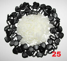 Lot 25 Plastic Zipper Pull Cord Lock Ends For Paracord Glow in Dark