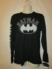 mens batman logo t-shirt M nwt black long sleeve
