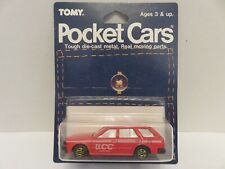 Tomy Tomica Pocket Cars Nissan Bluebird Wagon UCC Coffee Red Japan