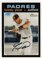 2020 Topps Heritage #268 TOMMY PHAM San Diego Padres 1971 STYLE BASEBALL CARD