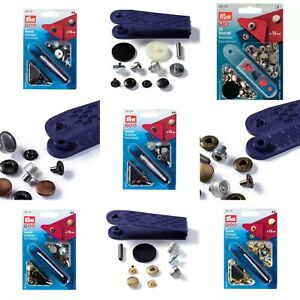 Prym Snaps Press Fasteners, Anorak, 12mm or 15mm. Various Colours