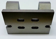 "4""x 4""x 6"" Vee Angle Plate Slotted - Cast Iron Construction - Stress Relieved"